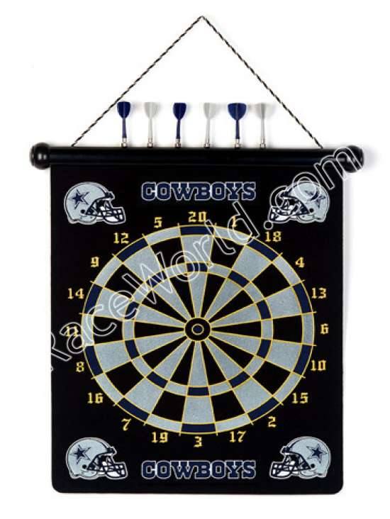Race World: Football: Office, Home U0026 Garden: Dallas Cowboys NFL Magnetic Dart  Board Set:: Play The Classic Game Of Darts Featuring Your Favorite NFL Team.
