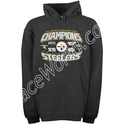 070fe5d6574 Reebok Pittsburgh Steelers Super Bowl XLIII Champions 6X Treasure Chest Hooded  Fleece - Size-X-Large  Hardcore fans will love going to the game wearing  this ...