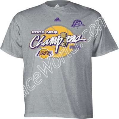 f1aeeaa7c adidas Los Angeles Lakers 2009 NBA Champions Ash Locker Room T-shirt Large    Commemorate your Los Angeles Lakers  victory over the Orlando Magic to  capture ...
