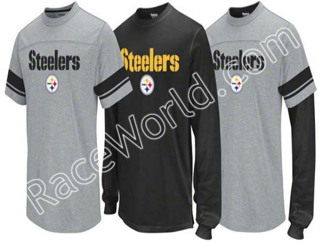 Pittsburgh Steelers Option 3-in-1 Black Long Sleeve T-Shirt Combo Pack Size -3X-Large   •100% Cotton for a nice 99f17ec79