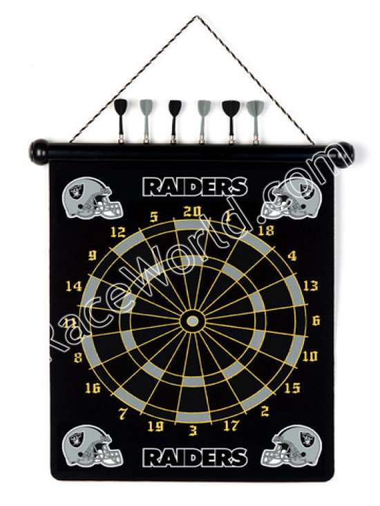 Race World: Football: Office, Home U0026 Garden: Oakland Raiders NFL Magnetic Dart  Board Set:: Play The Classic Game Of Darts Featuring Your Favorite NFL Team.