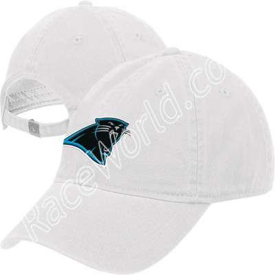 Reebok Carolina Panthers Women s White Adjustable Slouch Hat  When the  Carolina Panthers take the field 442aa63c5