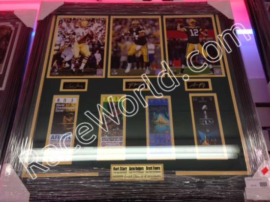Race World Football Framed Pictures Nfl Green Bay Packers Aaron