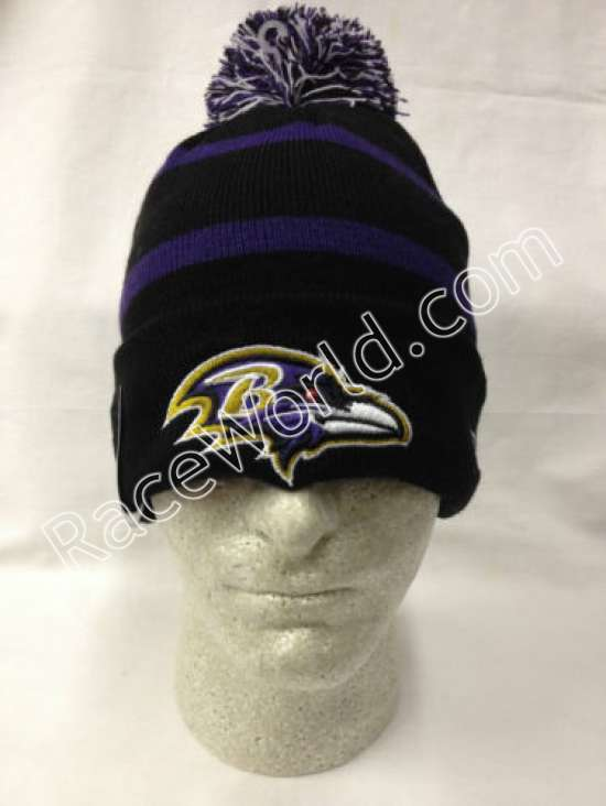 Baltimore Ravens Classic On-Field Player Sideline Sport Knit Hat By New Era  with Pom •Gray Fleece Lined •Cuffed •Officially Licensed by the NFL •Knit  winter ... afec697a2